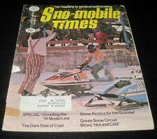 Vintage Sno-Mobile Times Snowmobile Magazine Yamaha Ski Doo Arctic Cat 1973