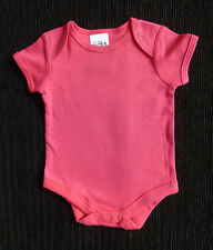 Baby clothes GIRL 0-3m NEW! Baby bright pink short sleeve bodysuit/top/outfit