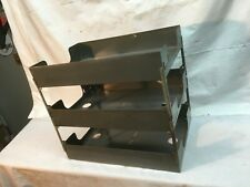 Vintage Steel 3 Tier Paper Documentletter File In Out Trays Industrial Gray