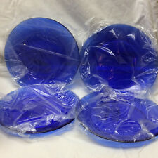 "COLIN COWIE Cobalt Blue 7.5"" Plates FOR JC PENNEY HOME COLLECTION SET OF 4"