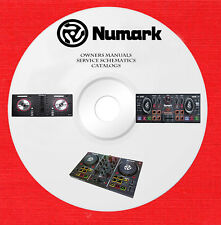 Numark Audio owner manuals and schematics on 1 dvd in pdf format
