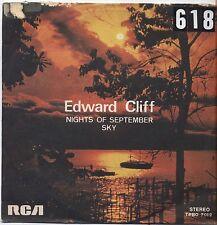 "EDWARD CLIFF - Nights of september - VINYL 7"" 45 ITALY 1976 VG+ COVER VG-"