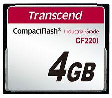 4GB Transcend Industrial Temperature Range CF220I 220X Ultra CompactFlash (SLC)