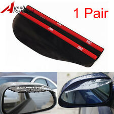 2x Car Auto Rear Side Mirror Guard Rearview Mirror Rain Shade Rain Cover Black