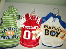 New listing Lulu Pink Set Of 3 Outfits For Boys Xs Red Jersey Blue T-shirt And Stripped.