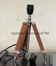 Shade/ Floor Lamp Wooden Adjustable Tripod Bedroom Conner Desk Top Decorative