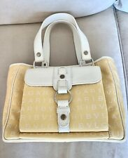 Bvlgari Logo Mania Pale Yellow Small Summer Tote Bag