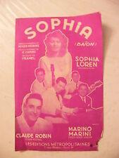 Partition Sophia Sophia Loren Marino Marini Claude Robin