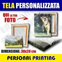 FOTO QUADRO 30x20cm STAMPA SU TELA TELAIO in LEGNO REGALO Personalizzato CANVAS