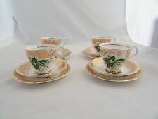 "GEORGANN POTTERY ""LILY OF THE VALLEY "" PATTERN RETRO TEA SERVICE x 12 PIECE"