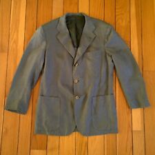 KITON Men 100% Linen Patch Pocket 3 Button Sport Coat Jacket Green IT 50 US 40