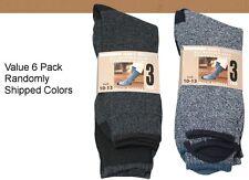 6 Pair Thermal Socks Work Boot Warm All Season Size 10-13 Free Shipping