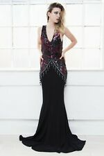 Doll house celeb boutique sequin beaded prom formal evening gown PLT goddess