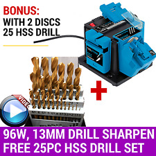 96W Electric Tool Sharpener Drill Bit 13MM Knife Scissors Chisel +25PC Drill Set