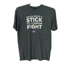 Tultex Columbus Blue Jackets Cannon Fight TShirt Mens XL Gray Soft Nationwide