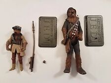 """Star Wars Saga Collection Leia Boushh and Chewbacca 3.75"""" figure loose complete"""