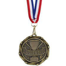 1/10/25/50/100 School Sports Day Medals with FREE RIBBONS 51 COLOURS!