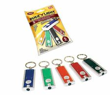 BUCK LIGHT 5 Pack Powerful LED Keychain Lights Key Chain Flashlights Seen on TV