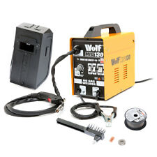 Wolf MIG 130 Portable Welder 230v DC No Gas Welding Gasless 120A 120 Amps