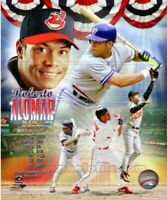 "Roberto Alomar Indians & Blue Jays MLB Hall of Fame Composite Photo (8"" x 10"")"