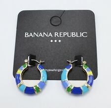 New Pair of Earrings with Blue Green & Yellow Colors by Banana Republic #BRE55