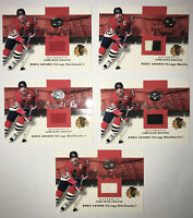 (5) 2001 FLEER GREATS OF THE GAME- ORIGINAL SIX AUTHENTIC GAME-WORN DENIS SAVARD