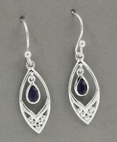 Iolite Gemstone Handmade Woman's Daily Wear Earring Solid 925 Sterling Silver