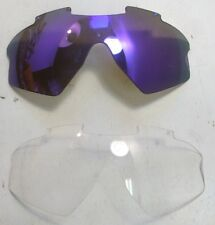 Vintage Replacement Ski Goggle Glasses Lens Lenses Puple & Clear