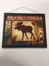 Moose Lodge wooden cabin sign log home camper decorations hunting lake house