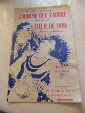 Partitur l'homme que j'adore fleur de Java Verschueren 1956 music -blatt