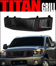 FOR 2004-2007 NISSAN TITAN/ARMADA BLACK VERTICAL FRONT HOOD BUMPER GRILL GRILLE