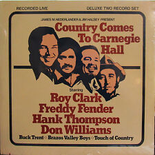 Country Comes to Carnegie Hall (2 LPs) Roy Clark,Hank Thompson,F.Fender,Don Wms.
