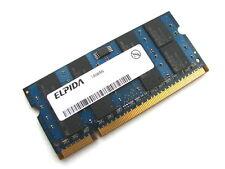 Elpida EBE21UE8AESA-8G-F 2GB 2Rx8 SODIMM PC2-6400S-666 DDR2 Laptop Memory