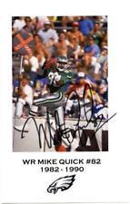 Mike Quick Autographed Signed Photo JSA COA Philadelphia Eagles NFL Football