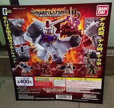 Bandai SD Gundam Expand 01 Gashapon - Set of 4 RX-78-2 MS-06S Zaku II