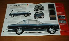 ★★1964 FIAT 2300S COUPE ORIGINAL IMP BROCHURE SPECS INFO 64 2300 1961-1968★★