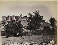 Rovine Ephesus Castello Turchia Foto albuminé10x13cm Ca 1880