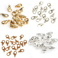 Wholesale^Lots Silver Plated/Golden/Dark Silver/Copper Metal Lobster Claw Clasp
