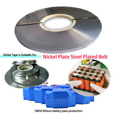 1 KG Roll 90m 0.15x8mm Nickel Plated Steel Strap Strip Sheets For 18650 Welding