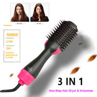 2In1 One Step Hair Dryer &Volumizer Brush Styler Straightening Curling Iron Comb