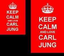 Keep Calm And Love Carl Jung 2 Sided Keyring And Fridge Magnet Set