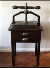 More details for vintage book press on original cabinet