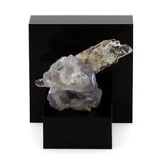 Fluorite violette et Quartz. 20.79 cts. Massif du Mont-Blanc, France. Ultra rare