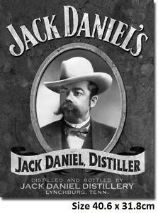 Jack Daniels Portrait Size 40.6 x 31.8 cm Metal Tin Sign 1622 Licensed USA Made