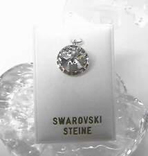 Neu KETTENANHÄNGER 14mm SWAROVSKI STEIN kristallklar/klar/crystal ANHÄNGER