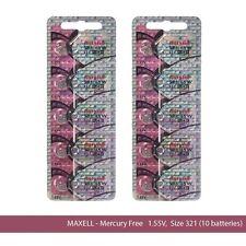 Maxell Hologram SR616SW 321 SR616 Silver Oxide Watch Batteries (10Pcs)