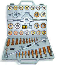 45 pc Tap and Die Set SAE Tungsten Steel Titanium thread  renewer tool