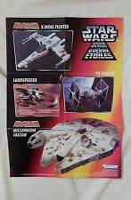 "STAR WARS - Double-Sided Vintage Poster 12""X8.5"" Micro Machines Kenner Toys LFL"