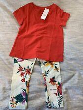 NWT Old Navy/ Gap Girls 3T Tropical Floral Legging & T-shirt Set