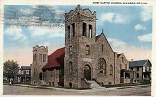 First Baptist Church in Ellwood City PA 1922
